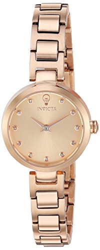 Invicta Women's 'Gabrielle Union' Quartz Stainless Steel Casual Watch, Color:Rose Gold-Toned (Model: 22950) (Watch 18k Diamond)