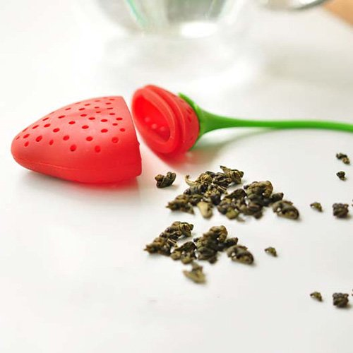SODIAL(R) Strawberry Design Silicone Tea Infuser Strainer - Red and Green / Suitable for Use in Teapot, Teacup and More--A Wonderful Gift for An Avid Tea Drinker