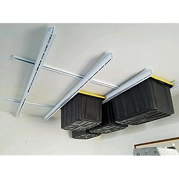 Rack n rail over head garage storage for Garage totes 76