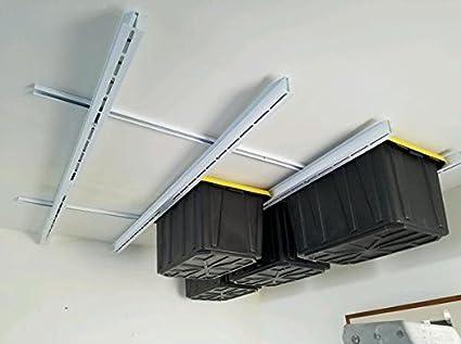 Rack N Rail   Over Head Garage Storage; Overhead Shelving. Store Bins, Totes