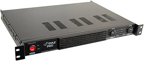 Pyle 2000 Watt Power Stereo Amplifier, 1U Rack Mount Amp