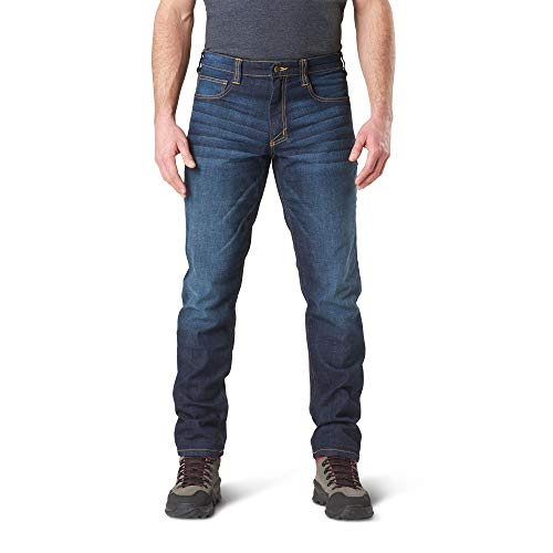 5.11 Mens Defender-Flex Jean Slim Fit Tactical Pant, Style 74465, 38Wx30L