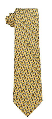 Vineyard Vines Men's Pelican Silk Tie. (Yellow)