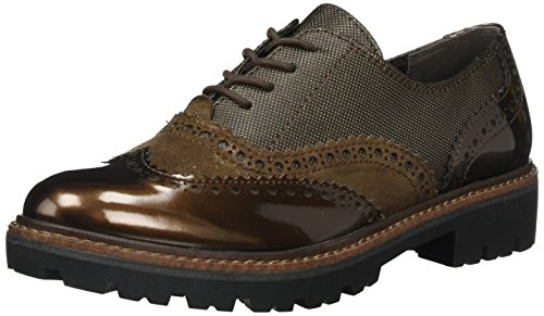 Marrón para Met Mujer Oxford Cafe Comb Tozzi Marco 23718 4ZqRxX