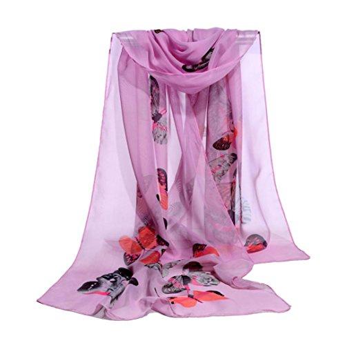 Women Scarf, Malltop Ladies Butterfly Printing Soft Wrap Shawl Chiffon Neckerchief