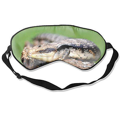 Blue Tongue Skink Cute Sleep Eye Mask, Therapy for Insomnia Puffy Eyes, Super Soft and Light, for Sleeping, Shift Work,Blindfold Eyeshade for Men and Women Kid -