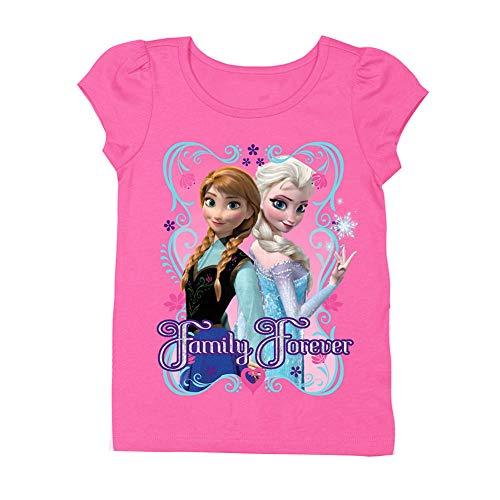 Disney Little Girls' Toddler Frozen T-Shirt, Hot
