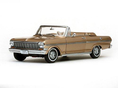 - 1963 Chevrolet Nova Open Convertible Saddle Tan 1/18 by Sunstar 3975