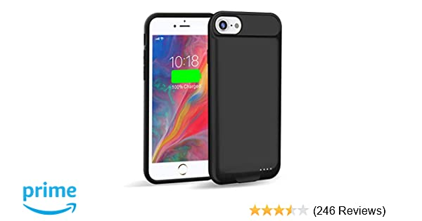 the latest b37e8 f5266 Venevix Battery Case for iPhone 7/8 Slim, 3000mAh Extended Protective  Charging Case for Apple iPhone 7 8 (4.7inch) Support Lightning Charge and  ...