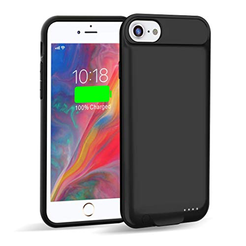 Venevix Battery Case for iPhone 7/8 Slim, 3000mAh Extended Protective Charging Case for Apple iPhone 7 8 (4.7inch) Support Lightning Charge and Earphones-Black