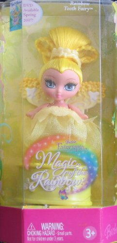 Barbie Fairytopia Magic of the Rainbow TOOTH FAIRY Yellow Doll (2006)