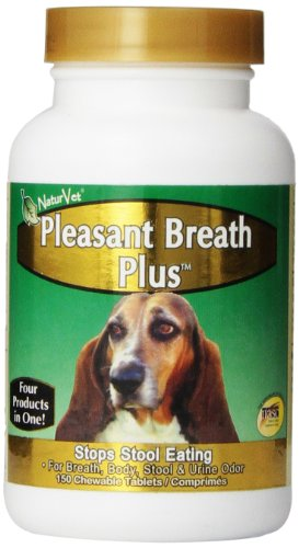NaturVet Pleasant Breath Tablets, 150 Count by NaturVet