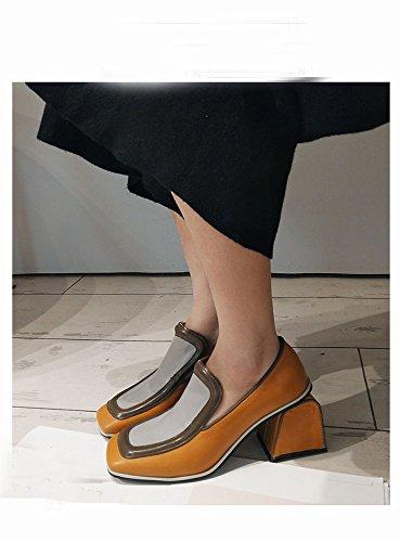 Zapatos De nbsp;segundo Primavera Boca Literaria Dhg Solo Femeninos Simple Baja Bajo 35 Cuadrado Tacón pdgw5nxR7