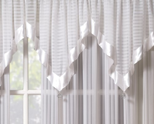 Silhouette Ascot White (Stripe Ascot Valance)