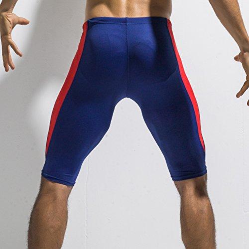 Pantaloni Quinto Training Blu Yuanu Stretto Fitness Elasticità Misti Pantaloncini Scuro amp;rosso Sport Alta Colori Compressione Asciugatura Mesh Uomo Traspirante Rapida xI8qwrT80
