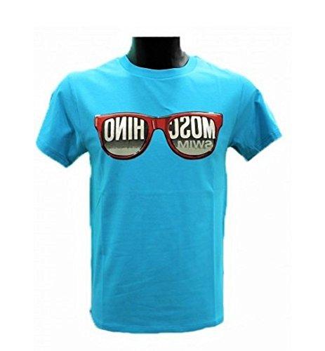 Moschino Herren T-Shirt blau himmelblau