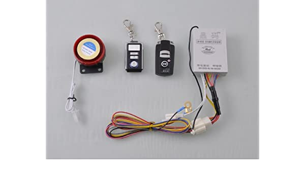 Motorcycle Security Kit 12V Motorcycle Universal Wireless Alarm System Anti-theft Security with 2 Remote Control