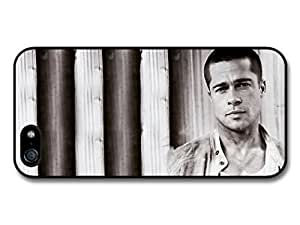 AMAF ? Accessories Brad Pitt Serious Actor Portrait case for iPhone 5 5S
