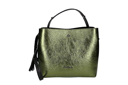 d0484717ee745 Pam Shop Tasche Damen mit Schultergurt Pierre Cardin Grün Leder Made in  Italy VN277 Kostenloser Versand