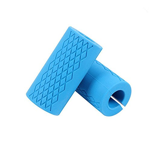 Elemart Thick Bar Grips – Non-slip Barbell Grips Silicone Rubber Dumbbell Grips Fat Bar Training And Muscle Growth Easily Attachable to Any Barbell, Dumbbell and Kettlebell Review