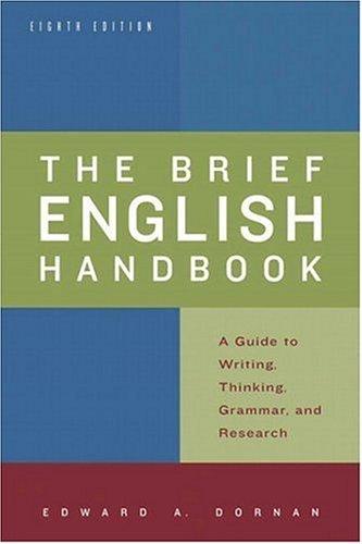 Brief English Handbook, The (8th Edition)