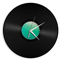 VinylShopUS - Recycled Record Vinyl Wall Clock Sea