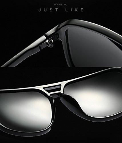 Gafas para Diseñador mujer Aviator vintage 80 Retro moda hombre sol de Blanco de Gafas 4wHqr4