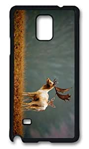 MOKSHOP Adorable deers nature Hard Case Protective Shell Cell Phone Cover For Samsung Galaxy Note 4 - PCB