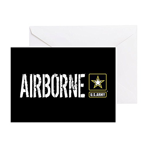 y: Airborne (Black) - Greeting Card, Note Card, Birthday Card, Blank Inside Matte ()