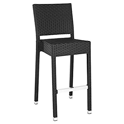 Safavieh Home Collection Bethel Black Indoor/ Outdoor Barstool