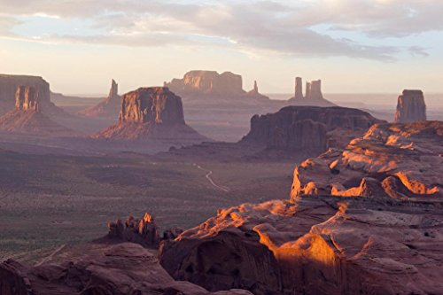 The Hunts Mesa Rock Formation Monument Valley Photo Art Print Mural Giant Poster 54x36 inch