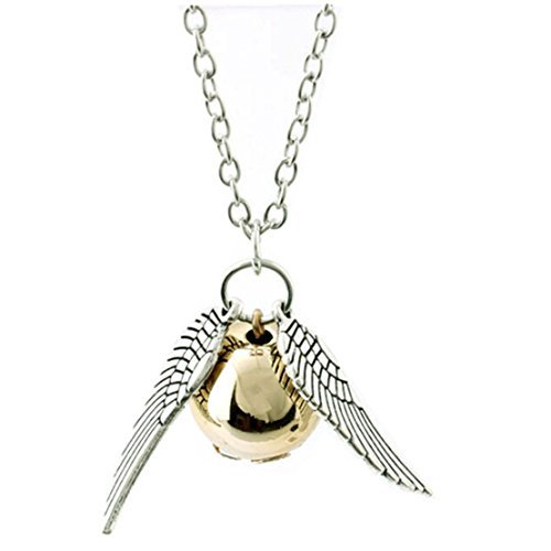 Harry Potter Inspired Golden Snitch Necklace by -