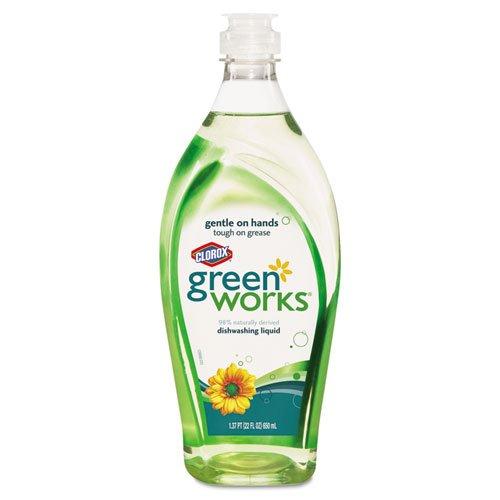 Green Works Dishwashing Liquid, Original, 22oz Bottle - Includes 12 per case.
