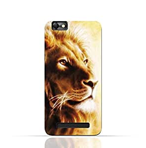 Lenovo Vibe C TPU Silicone Case with Lion Portrait Air Brush Pattern