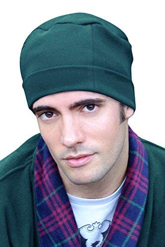 Mens Sleep Cap - 100% Cotton Night Cap for Men - Sleeping Hat Lagoon