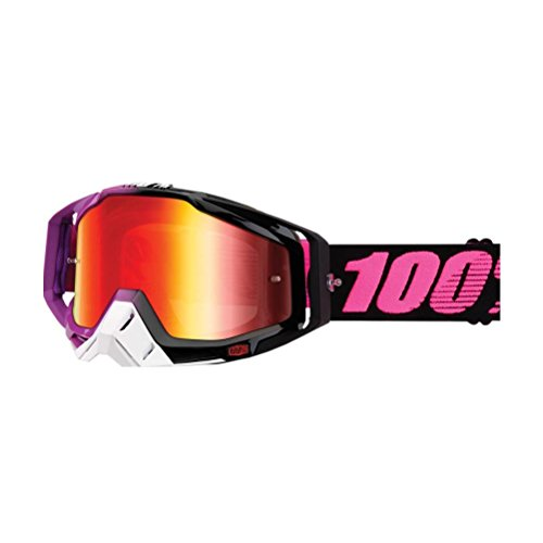 100% unisex-adult Goggle (Purple,Mirror Red,One Size) (RACECRAFT RC HARIBO Mirror Lens Red) Price