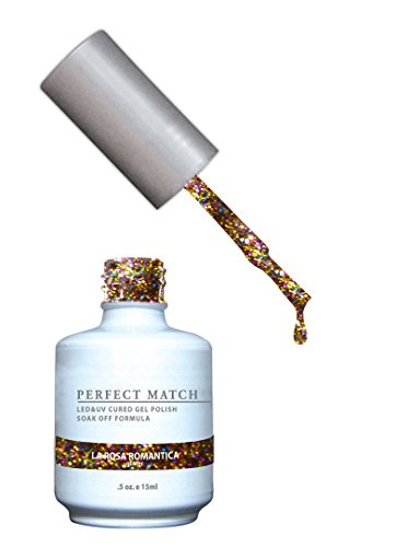 LECHAT Perfect Match Nail Polish, La Rose Romantica, 0.500 (Romantica Roses)