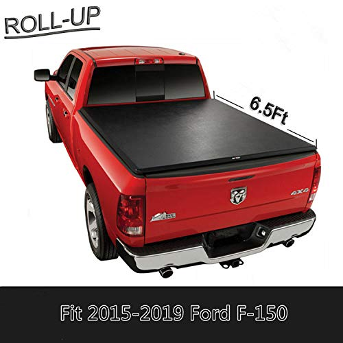 U-Drive Auto Roll Up Truck Bed Tonneau Cover Compatible for 2015-2019 Ford F-150 Styleside with 6.5 Feet (78 inch) Bed Only