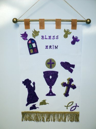First Holy Communion Banner Kit - White with Gold & Purple