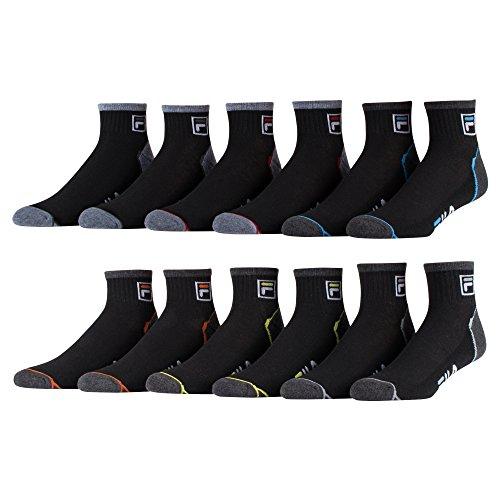fila-mens-ankle-socks-6-pack-jacquard-logo-black-13-15