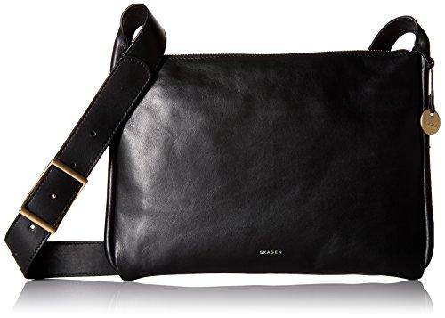 Skagen Anesa Slim Crossbody Leather, Black by Skagen