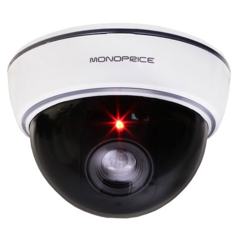 White Dummy Dome Camera with switchable On/Off LED