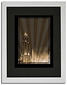 Address Hotel Down Town- Sepia No Text F02-nm (a5) - Framed