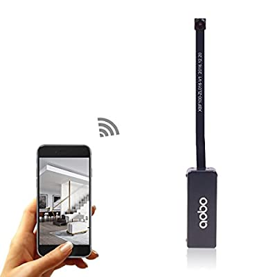AOBO Spy Camera Wireless Hidden WiFi Camera Indoor Smallest Mini Spy Cam with Buttons Portable Tiny Battery Security Cameras for Home/Office/Car/Kids room/Pets Nanny Cam Watch Live Streaming by iPhone from Aobo en Technology