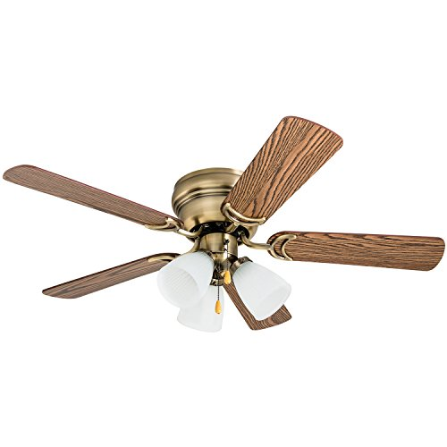 Prominence Home 50861 Whitley Hugger Ceiling Fan with 3 Light Fixture, 42