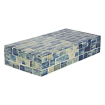 Indigo Mosaic Keepsake Decorative Jewelry Storage Organizer Box Handmade from Hanidcrafts Home Size 10x5x2 inches