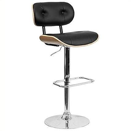 Sensational Amazon Com Pemberly Row Adjustable Bentwood Bar Stool In Dailytribune Chair Design For Home Dailytribuneorg