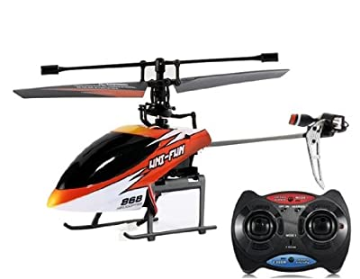 HuanQi 868 2.4GHz 4-Channel Remote Control Aircraft with Built-in Gyroscope & Left/ Right Throttle Switching Function (Red)
