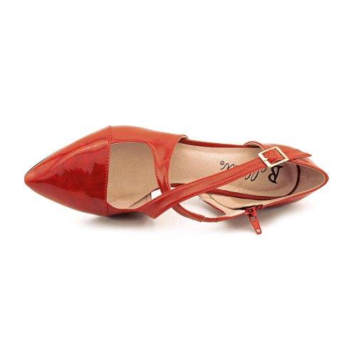 Bellini Womens Philadelphia Strappy Fashion Pumps Red TrUI3d