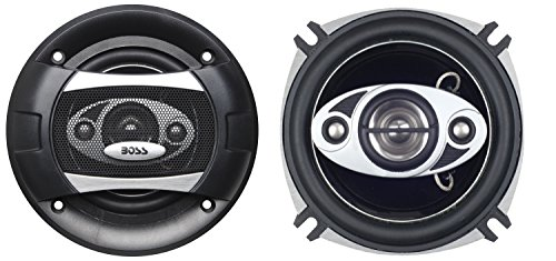 BOSS Audio P45.4C 4 Inch Car Speakers - 250 Watts of Power Per Pair, 125 Watts Each, Full Range, 4 Way, Sold in Pairs